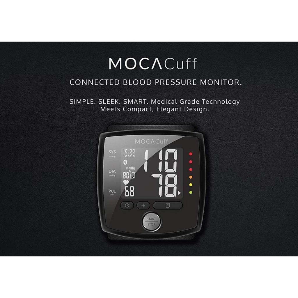 MOCACuff Bluetooth Blood Pressure Monitor - Medical Grade Technology n Sleek Design