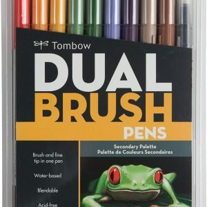 Tombow 56168 Dual Brush Pen Art Markers 10-Pack (Brush and Fine Tip)