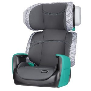 Evenflo Spectrum 2-in-1 Booster Seat, Ergonomic Seat Base, Machine Washable, High-Back Booster