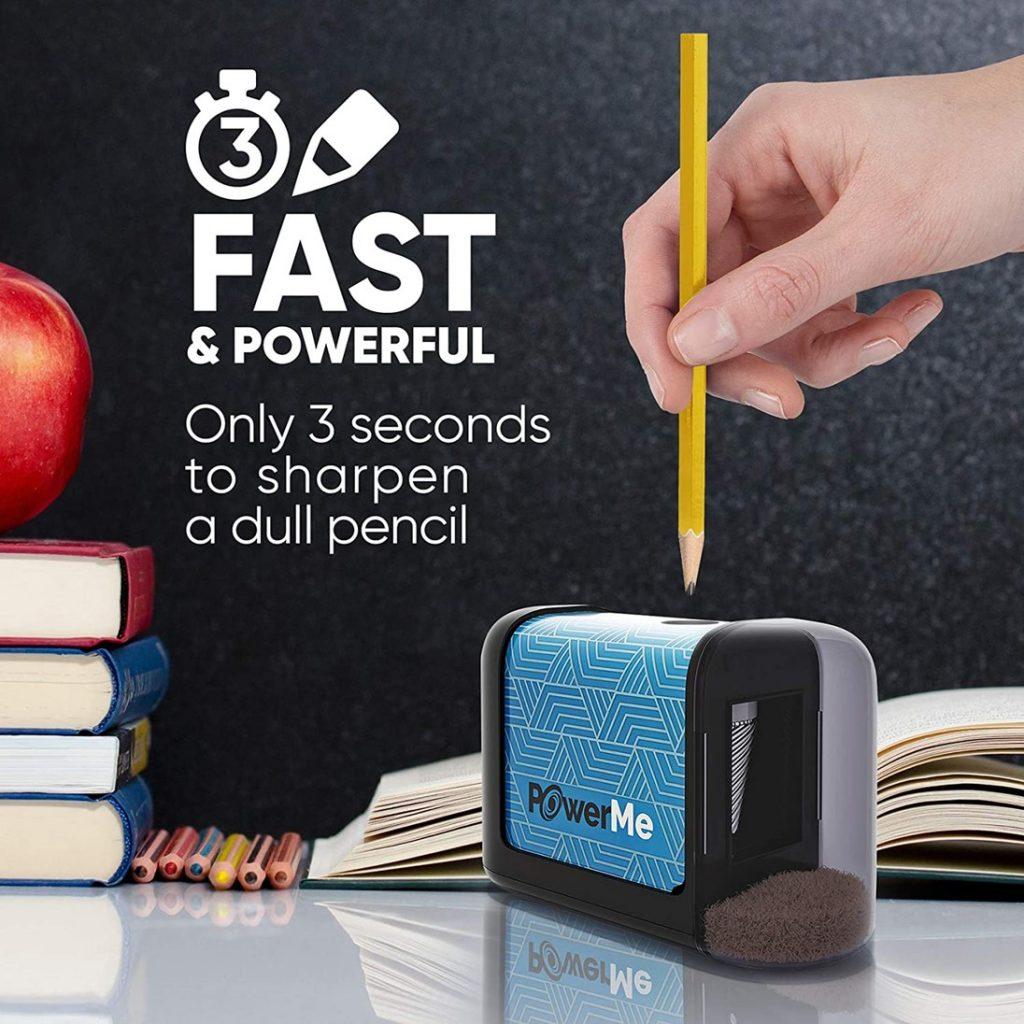 Powerme Electric Pencil Sharpener | Fast & Powerful