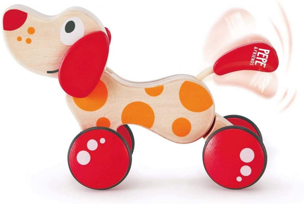 Walk-A-Long Puppy Wooden Pull Toy by Hape