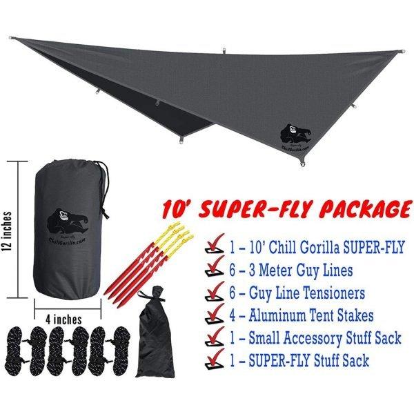 Chill Gorilla 10x10 Hammock Rain Fly Camping Tarp 2