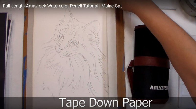 Amazrock Tutorial | Tape Paper Down for control and border effect