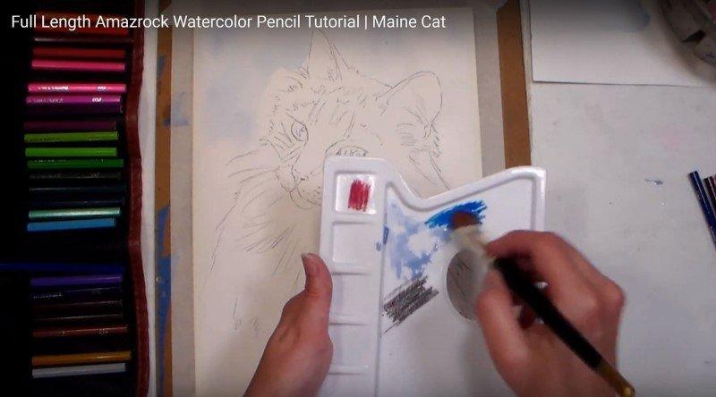 Amazrock Watercolor Pencils Offer Rich Pigments | Colored Pencil Palette - Use it like regular watercolor pans
