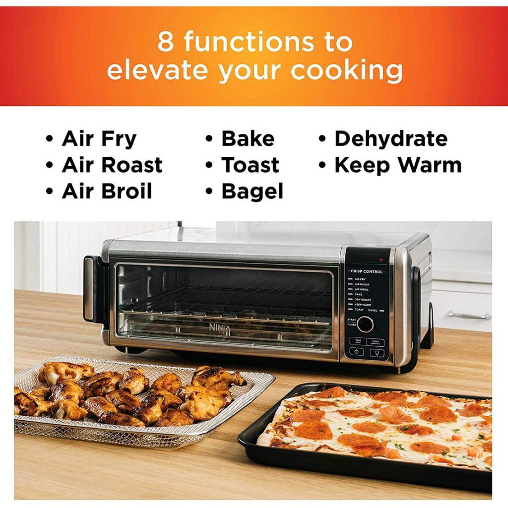 Ninja Foodi Digital Fry, Convection Oven, Toaster, Air Fryer - 8 Functions