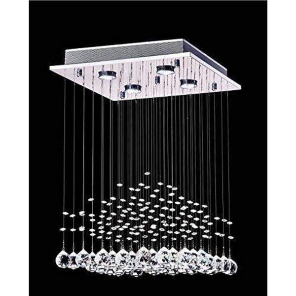 Saint Mossi K9 Crystal Rain Drop Chandelier Modern & Contemporary Ceiling Pendant Light 2