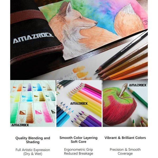 Amazrock Watercolor Pencils Set12
