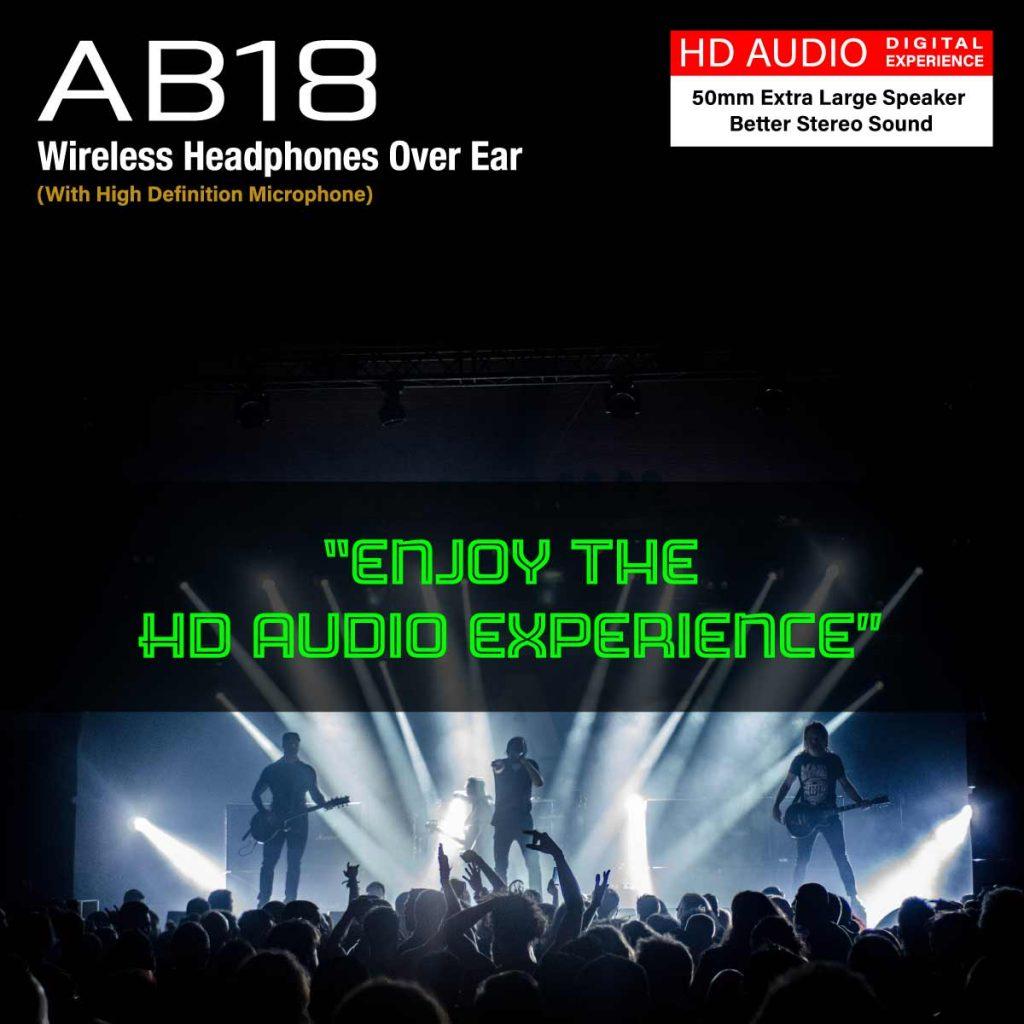Amazrock AB18 Wireless Headphones Enjoy HD Audio Experience