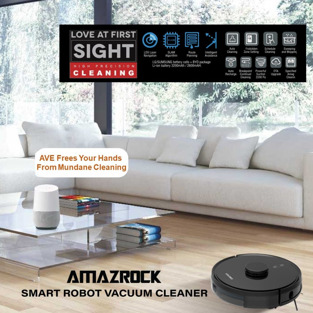 AVE Robot Vacuum Frees Your Hand From Mundane Vacuuming