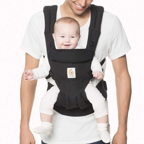 Ergobaby Omni 360 All-Position Baby Carrier for Newborn to Toddler with Lumbar Support (Pure Black)