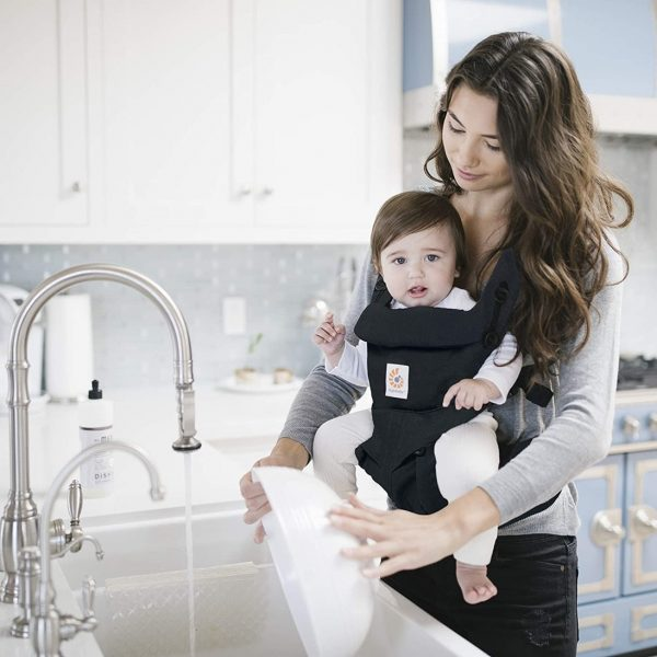 Ergobaby Omni 360 Baby Carrier with Lumbar Support (Pure Black) - Lifestyle Photo1