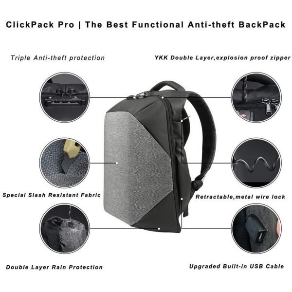 KORIN HiPack Anti Theft Smart Backpack - Features of ClickPackPro