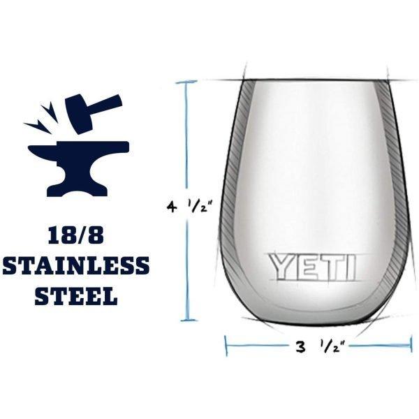 Yeti Wine Rambler 10oz - Made of Kitchen Grade Steel
